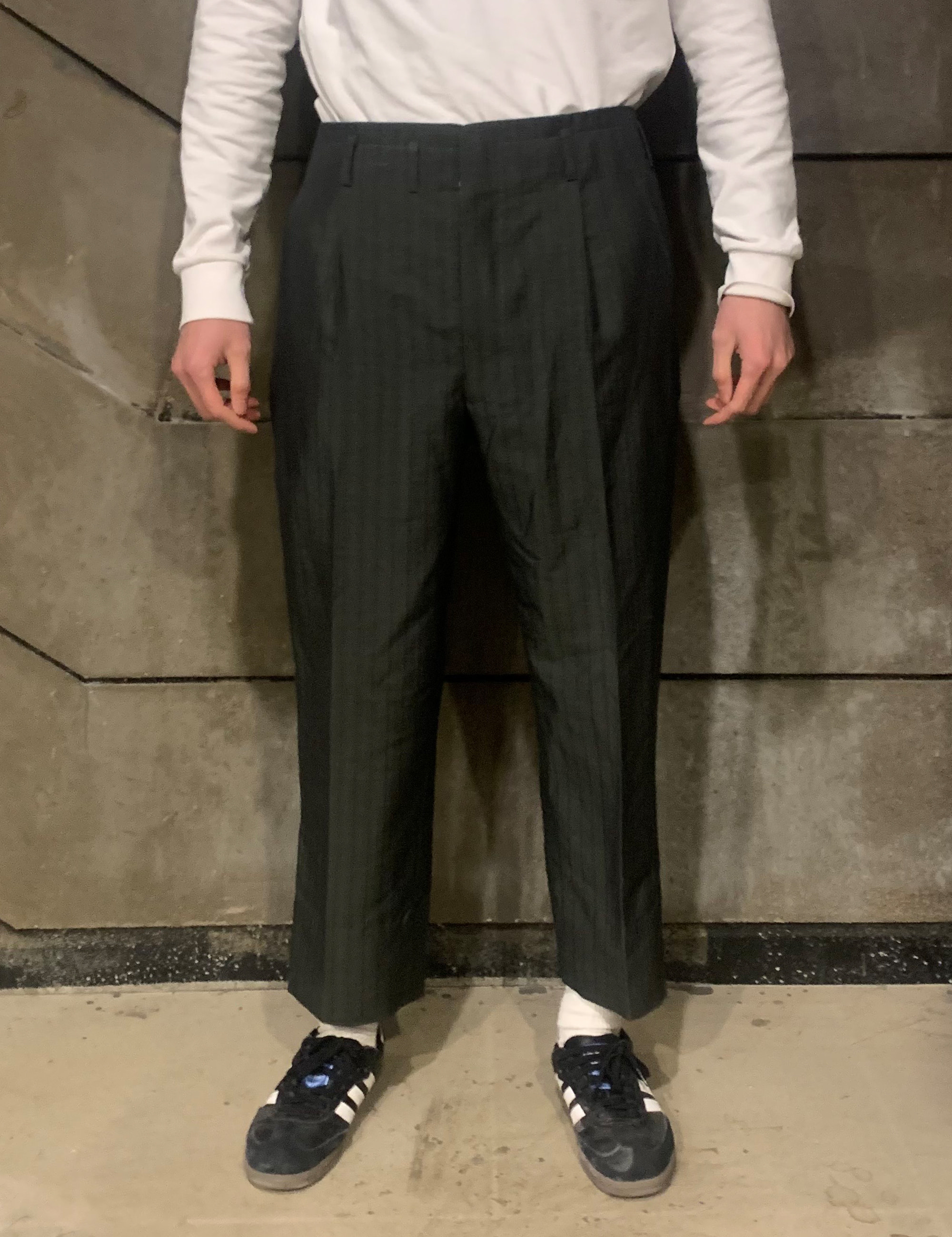 VINTAGE STRIPE SUIT TROUSERS