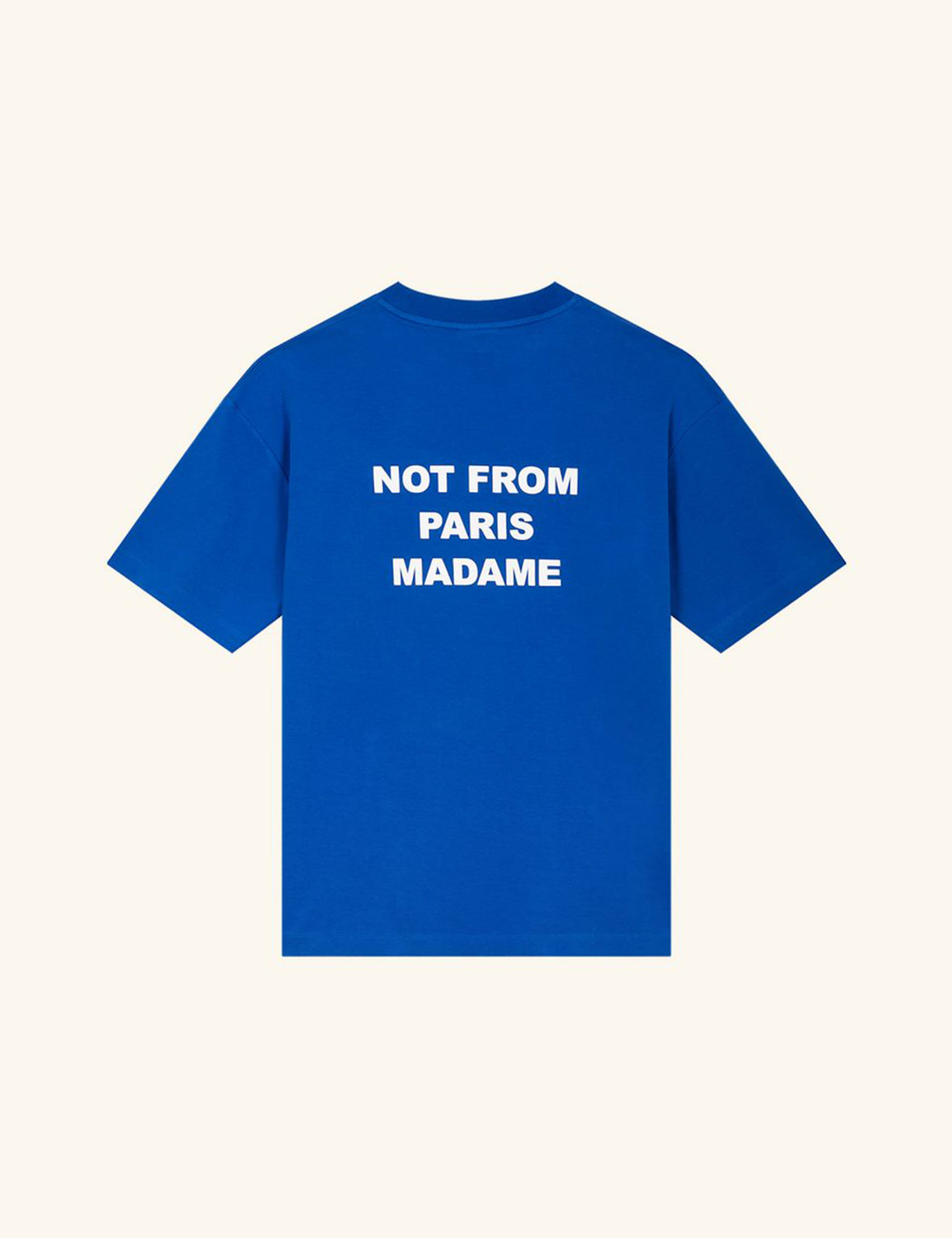 RIBBED NFPM T-SHIRT_BLUE KLEIN