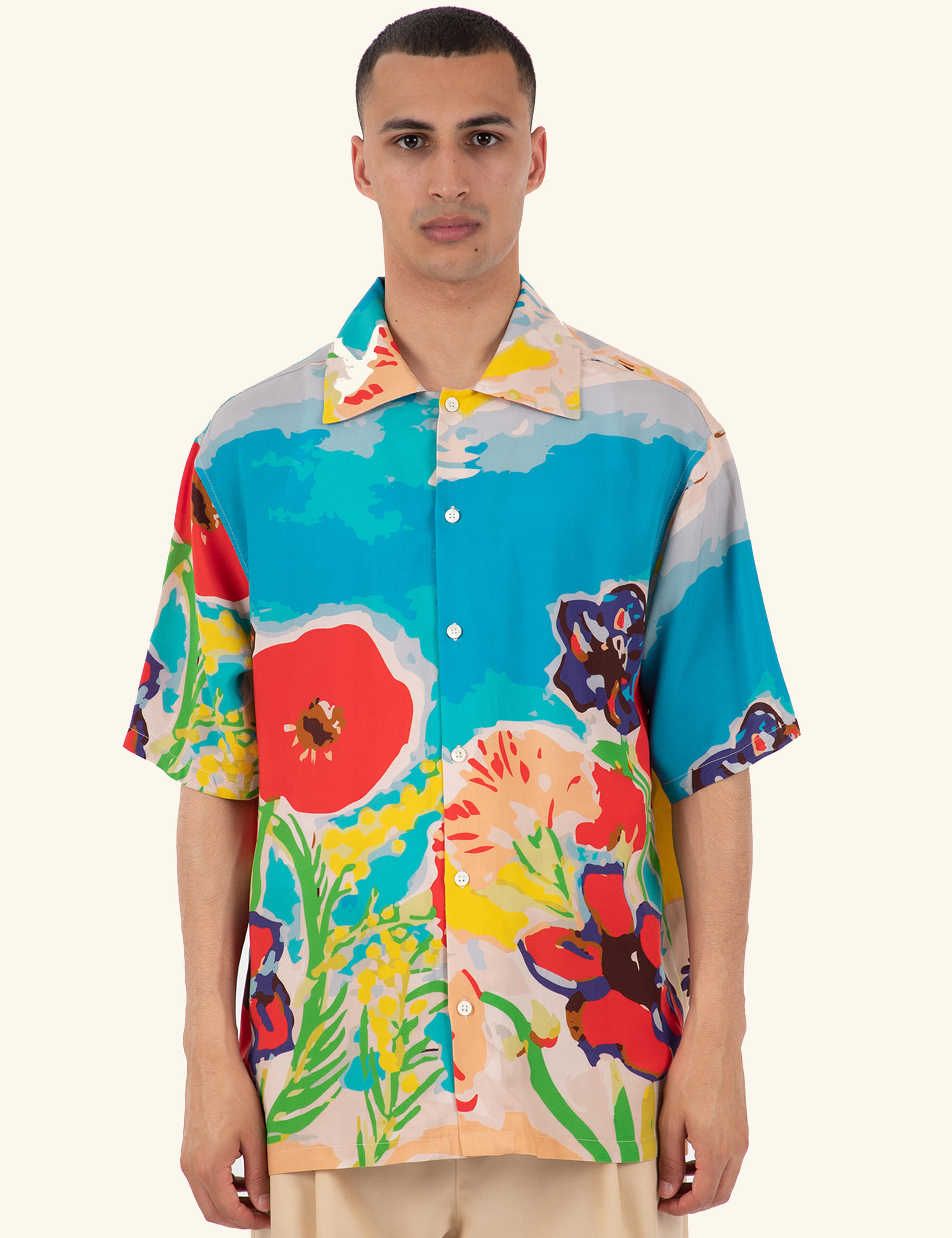 FLOWER RIVIERA SHIRT_BLUE SKY