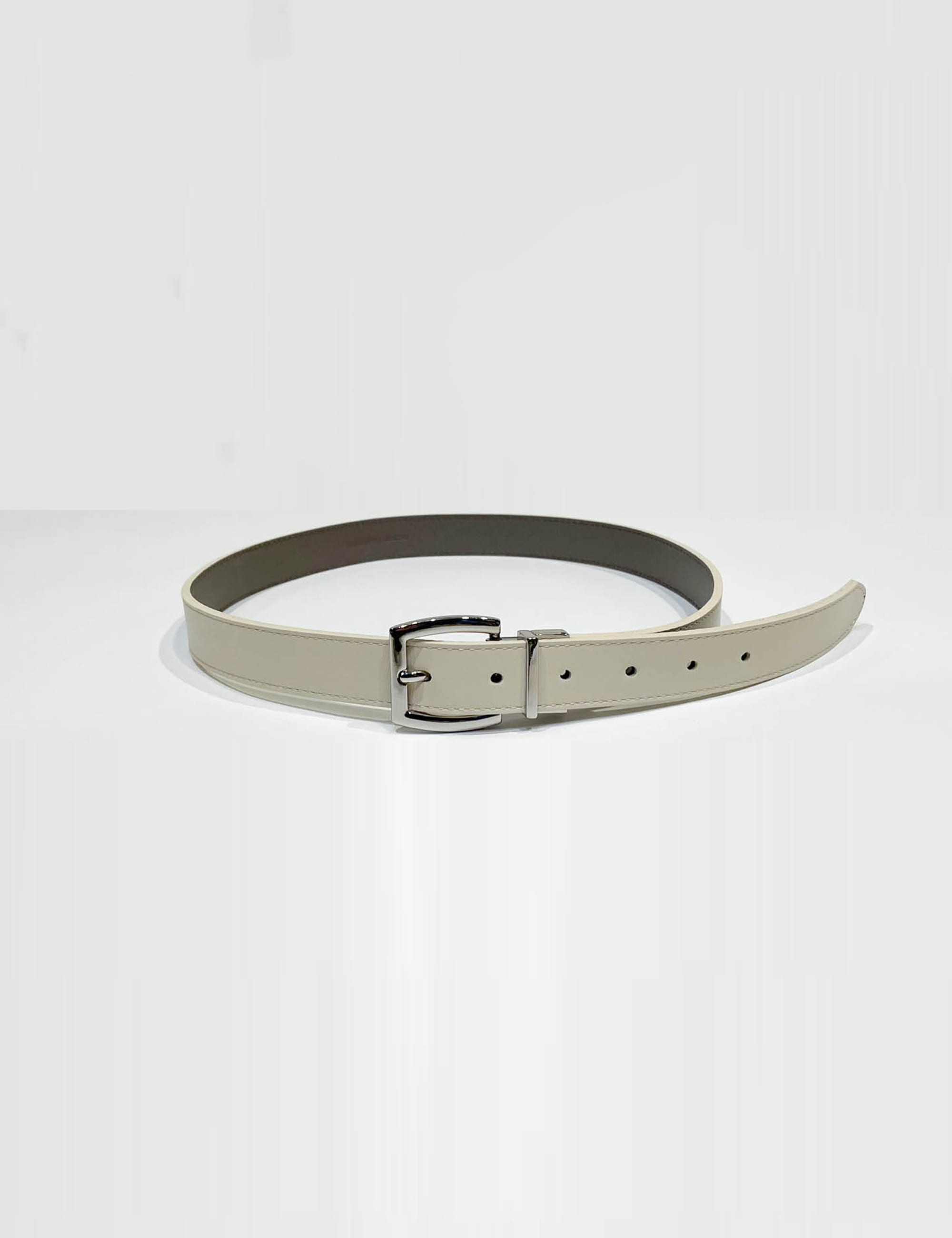 LEATHER BELTS_BEIGE