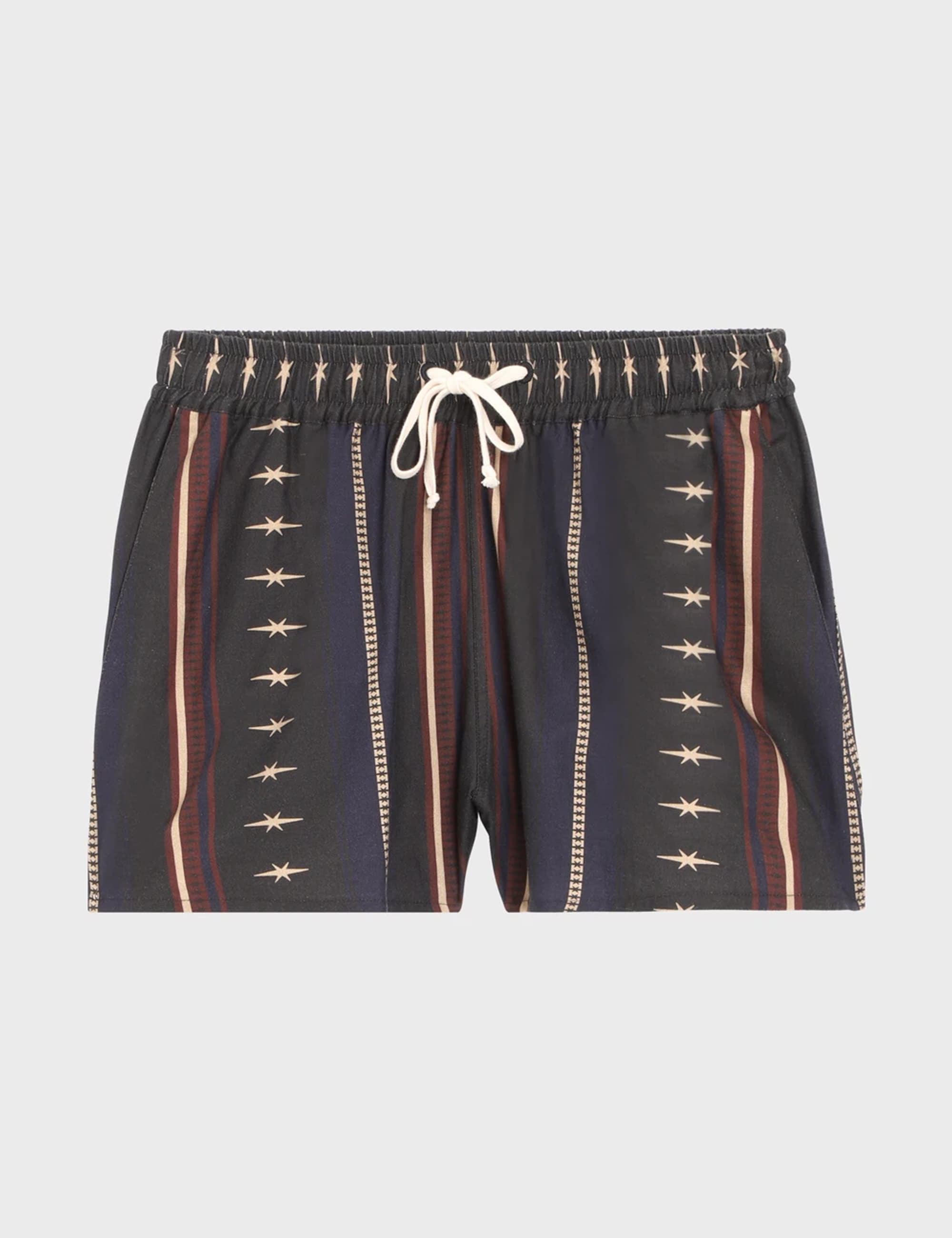 DRAWSTRING SHORT_BLACK STRIPE