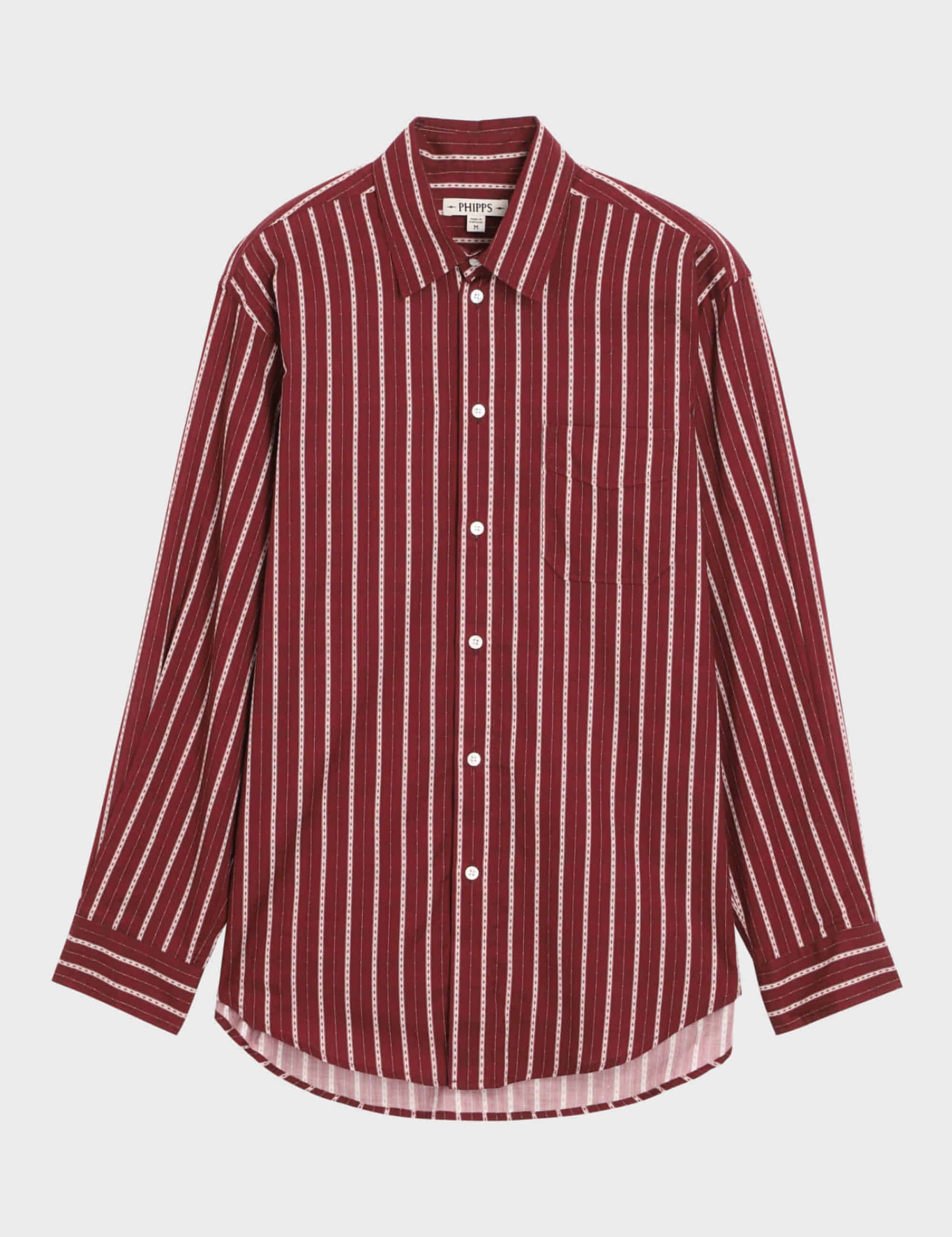 L/S CLASSIC SHIRT_RED STRIPE