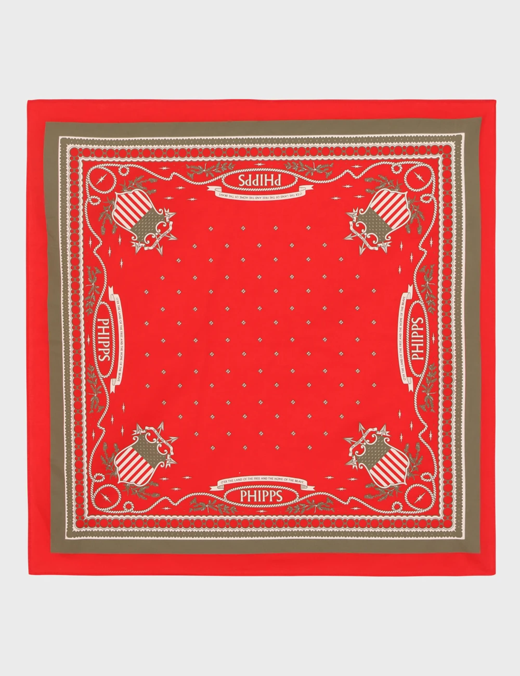 CLASSIC PATRIOT BANDANA_RED MULTI