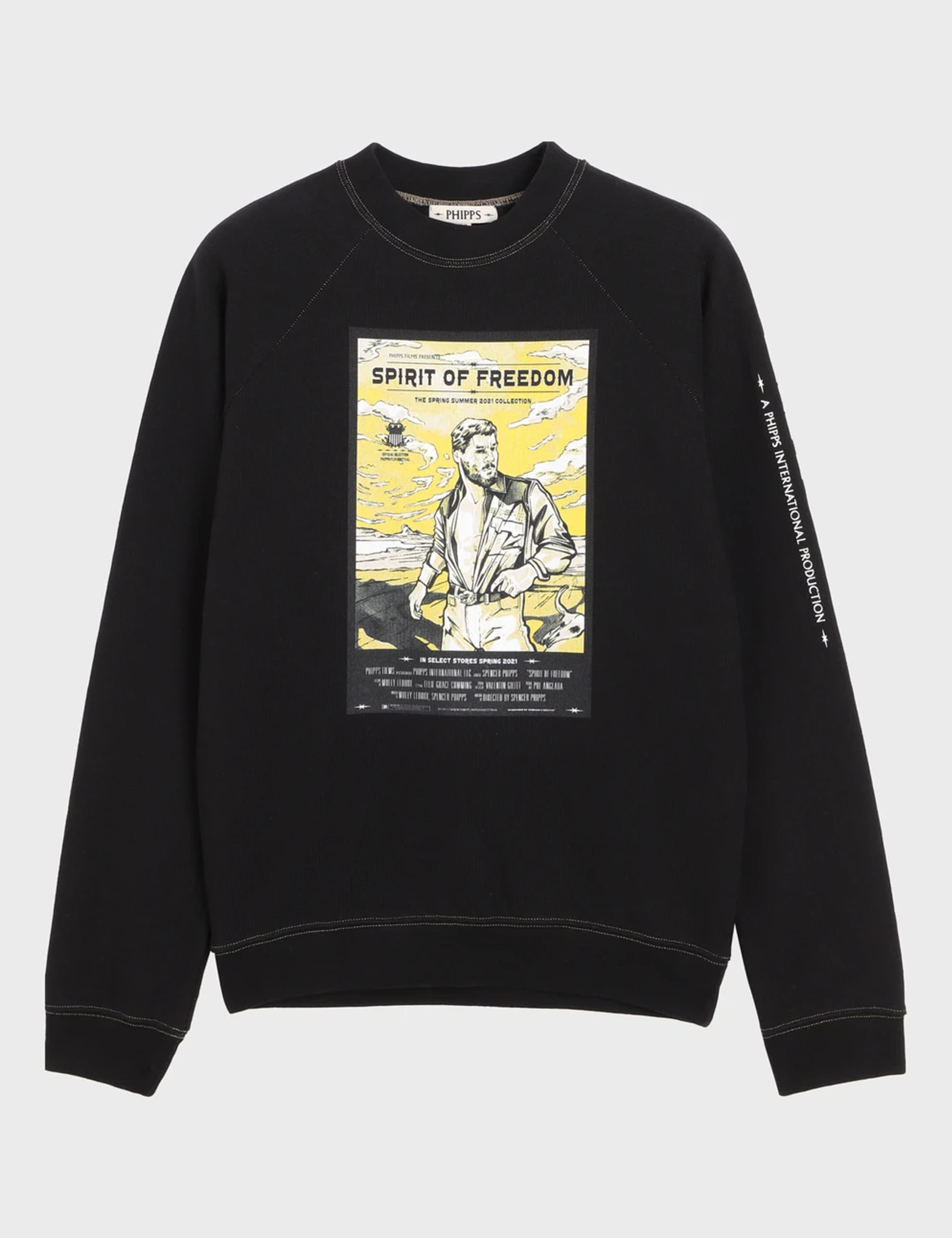 MOVIE MERCH SWEATSHIRT_WASHED BLACK