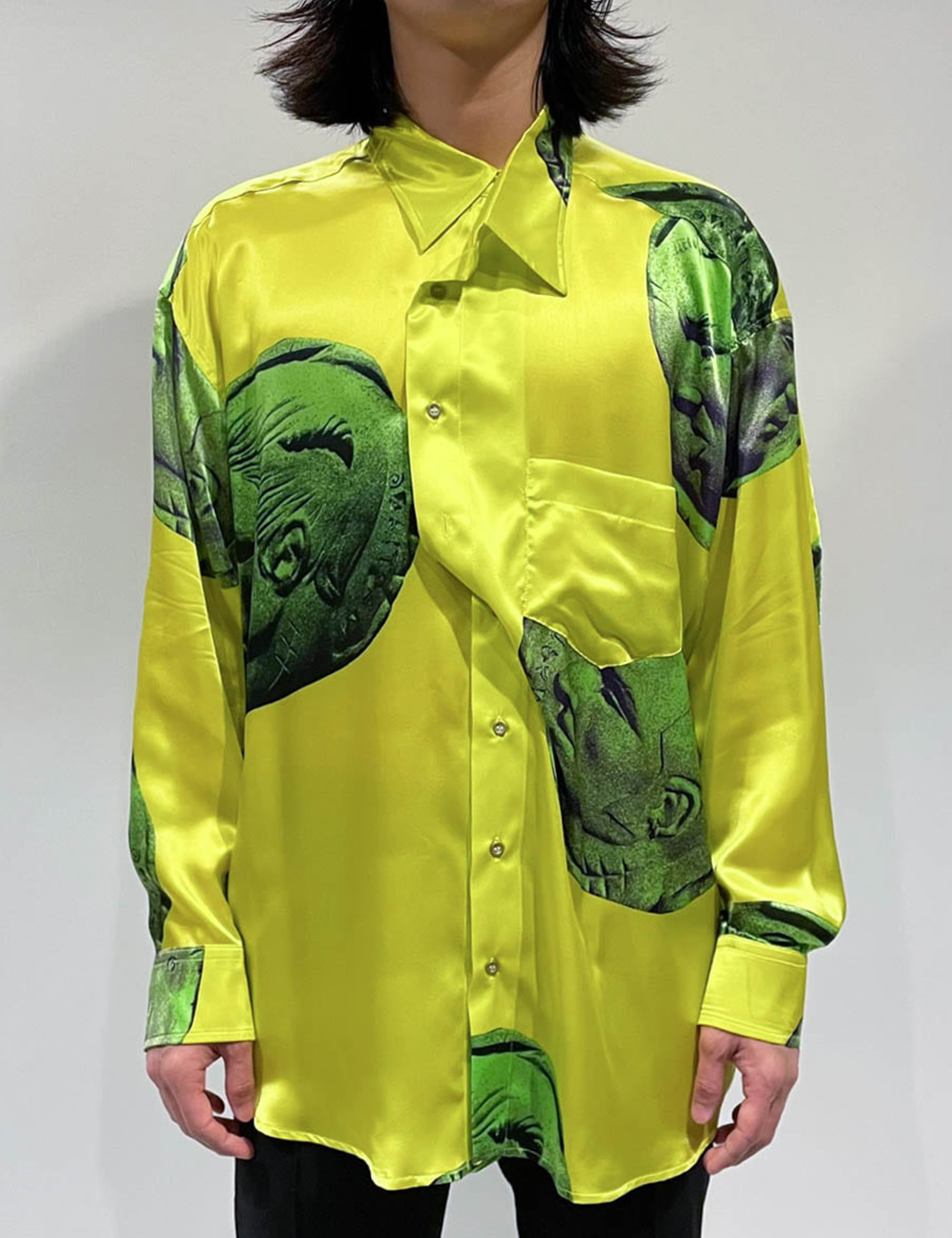MAGLIANO CURRENCY TWISTED SHIRT_YELLOW