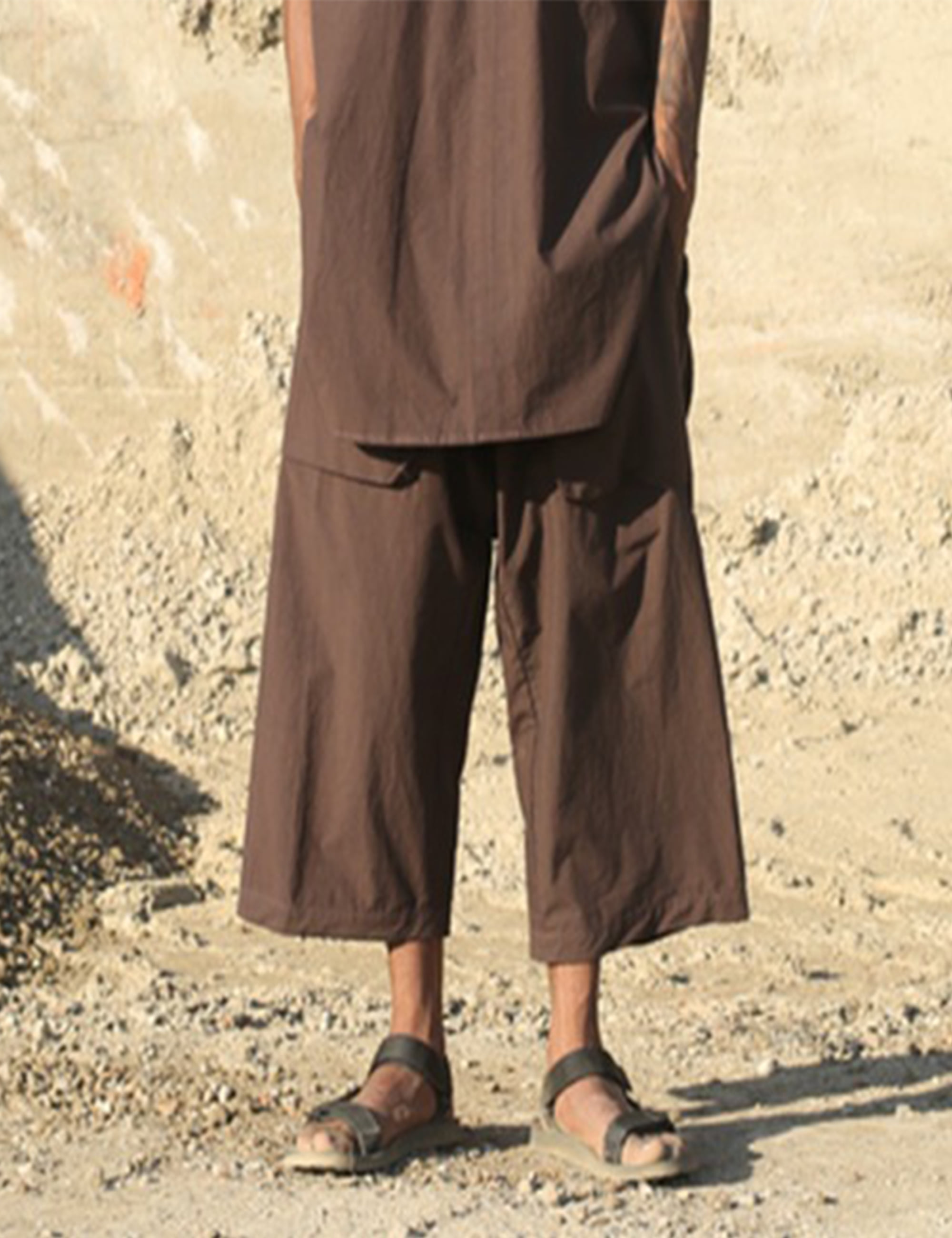 WIDE TROUSER_D.BROWN