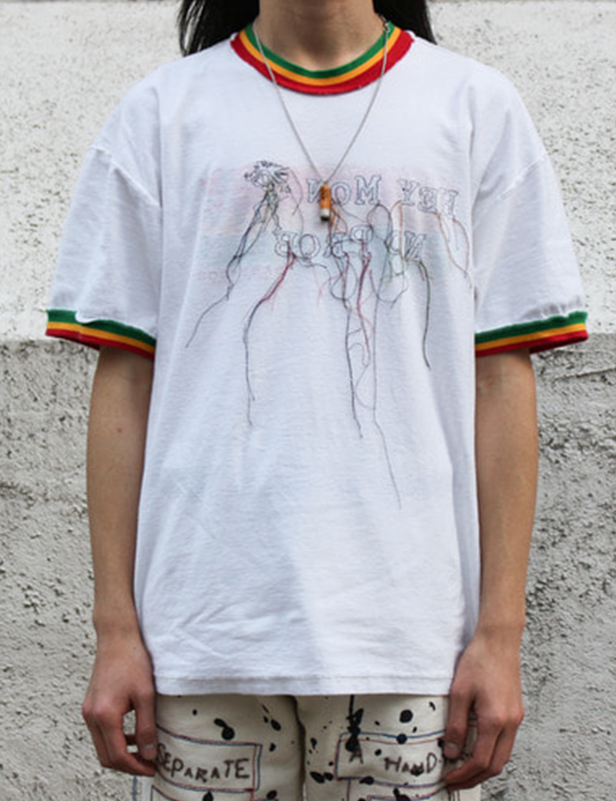 [EXCLUSIVE] RASTA INSIDE OUT TRACED EMBROIDER TEE