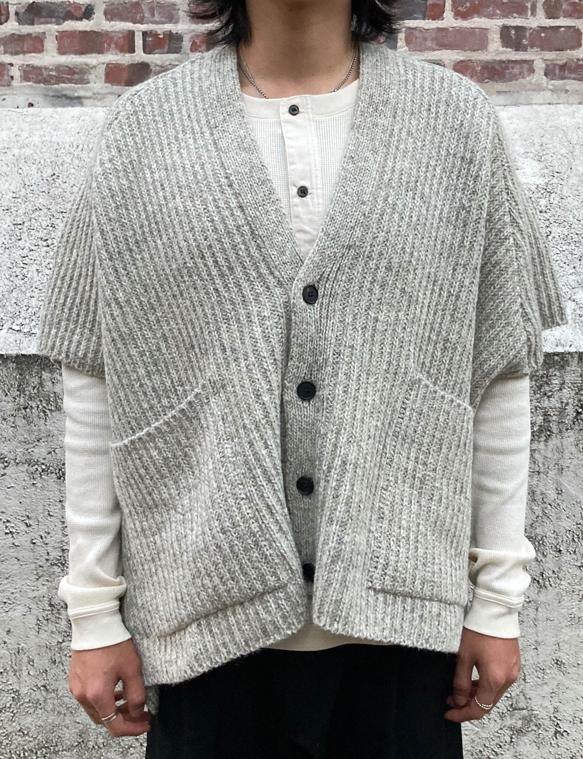 KNITTED CARDIGAN_NATURAL